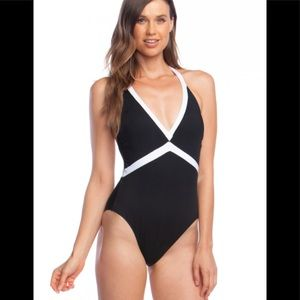 Ralph Lauren Bel Aire V-Neck Swimsuit